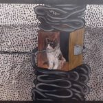 Fernando Baril; Cachorro; Acrílico s/ tela, 32 x 41 cm
