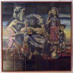Cândido Portinari, Retirantes, Painél de pintura s/cerâmica queimados pela GEA, 90 x 90 cm