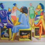 Carybé; Bate Papo; serigrafia 68/200,  50 x 67 cm