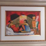 Carybé, Mulheres 1987, óleo s/madeira, 35 x 50 cm