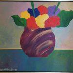 Aldemir Martins; Vaso de flores 1999;  Acrílico s/ tela, 45 x 56 cm