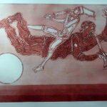 Clóvis Graciano, Músico/1974, Gravura em metal 77/100, 44 x 58 cm
