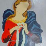 Djanira da Motta e Silva, Madona , óleo s/placa madeira, 66 x 50 cm