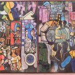 Emiliano Di Cavalcanti, Boemia, Painél de pintura s/cerâmica queimados pela GEA, 90 x 132 cm