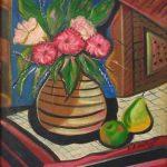 Emiliano di Cavalcanti, Bule de Flores - 1965, óleo s/ tela, 42 x 34 cm