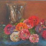 """Georgina de Albuquerque; """"Flores""""; Óleo sobre tela, 50 x 60 cm"""