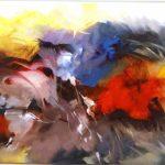 Vitório Gheno. Flores, 2012. Óleo s/ tela, 60x90cm