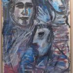 Iberê Camargo, Figuras 1985,  Técnica mista s/papel Schoeller, 102 x 71 cm