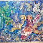 Ivan Serpa, Figuras, Aquarela s/cartão, 35 x 44 cm