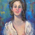 Manoel Santiago, Mulher, acrílica s/ tela, 45 x 37 cm