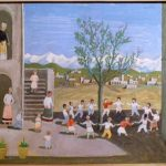Fulvio Pennacchi, Ciranda na Toscana/1986, óleo s/duratex, 50 x 40 cm