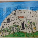Carlos Paez Vilaró, Casa Pueblo, Pintura/técnica mista s/papel, 44 x 65 cm