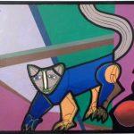 Carlos Paez Vilaró, Gato, òleo s/tela, 40 x 60 cm