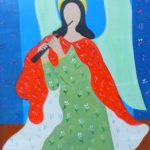 Djanira da Motta e Silva, Santa, óleo s/madeira, 52 x 41cm