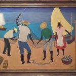 Djanira da Motta e Silva, Pescadores 1962, óleo s/ tela , 80 x 100 cm