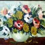 """Georgina de Albuquerque; """"Flores""""; Óleo sobre tela, 64x46 cm"""