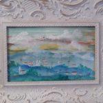Alberto da Veiga Guignard, Paisagem Mineira, aquarela s/papel, 13 x 20 cm.