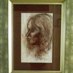Iberê Camargo, Rosto feminino, 1981. Desenho giz pastel, 59x42,5cm