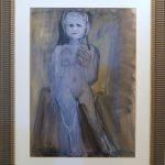 Iberê Camargo; Série idiotas; Guache e lápis stabilotone,  68 x 48 cm