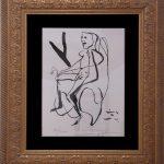 Iberê Camargo, Ciclista - 1989, serigrafia 81/200, 40 x 31 cm