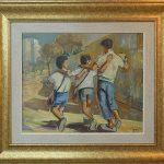 Mário Zanini, Meninos, óleo s/ madeira, 49 x 49 cm