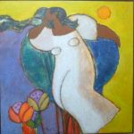 Nelson Jungbluth, Sonhadora I / 1979, Acrílica s/ tela, 70 x 70 cm