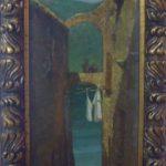 Pedro Weingartner, Roma, 1896, Óleo sobre cartão, 36,5 x 15 cm