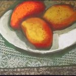 Glênio Bianchetti, Frutas 1963, Óleo s/ madeira, 26 x 34cm