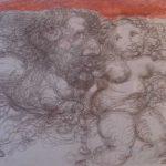 Plínio Bernhardt, Desenho e sanguínea s/papel,  1977, 34 x 51 cm