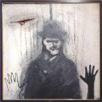 Gelson Radaelli Homem Espectro acrílico s/ tela 98 x 98cm