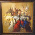 Armando Romanelli, Culto Afro, Óleo s/tela, 100 x 100cm