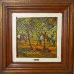Armando Romanelli,  Colheita de cacau / 1985, Óleo s/tela, 35x35cm