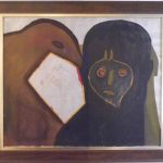Siron Franco, Figuras,  acrílico s/ tela, 90 x 110 cm