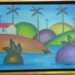 Tarsila do Amaral, Paisagem, óleo s/cartão, 15 x 20 cm