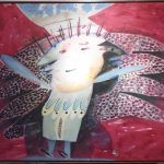 Maria Tomaselli, Anjos I /1986, acrílico s/ tela, 130 x 110cm