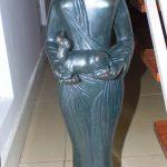 Alfredo Ceschiatti, Oferenda, escultura em bronze com pedestal granito, 83 x 22cm