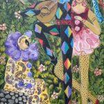 Rosina Becker do Valle, O Pierrot, a Colombina e o Arlequim - 1987, acrílica s/ tela, 41 x 23 cm