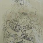 Pablo Picasso, Figuras,  Litogravura, 50 x 40 cm
