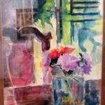 Angelo Guido, Vasos de flores, Aquarela, 28 x 17 cm