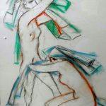 Enrico Bianco, Nus 2012 ,  crayon s/papel,  68cm x 54 cm