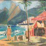 Tadashi Kaminagai, Rio - 1973, acrílica s/ cartão, 25 x 33cm