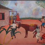 Heitor dos Prazeres, Um dia na roça 1963, óleo s/eucatex, 34,5 x 43,5 cm