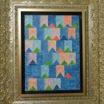 Alfredo Volpi, Bandeirinhas, T.s.t, Têmpera s/tela, 33 cm x 24 cm