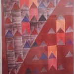 Alfredo Volpi, Bandeiras  Litografia 138/200, 80 x 50 cm