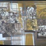 Roberto Burle Marx, Abstrato 1979, Paneaux (tinta serigrafia s/tecido), 100 x 150 cm