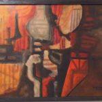 Roberto Burle Marx. Abstrato, óleo s/tela, 47 x 60cm