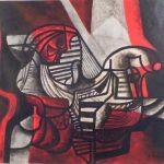 Roberto Burle Marx, Abstrato , óleo s/tela, 73 x 60cm