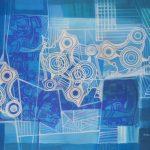Roberto Burle Marx, Abstrato 1978, Paneaux (tinta s/tecido), 110 x 150 cm