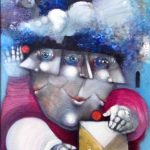 Alexandre Rapoport, O Mágico, óleo s/ tela, 40 x 28 cm
