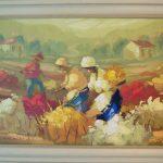 Erico Santos; Colheita de Flores; Acrilico s/ tela, 70x50 cm
